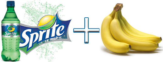 effects of banana and sprite