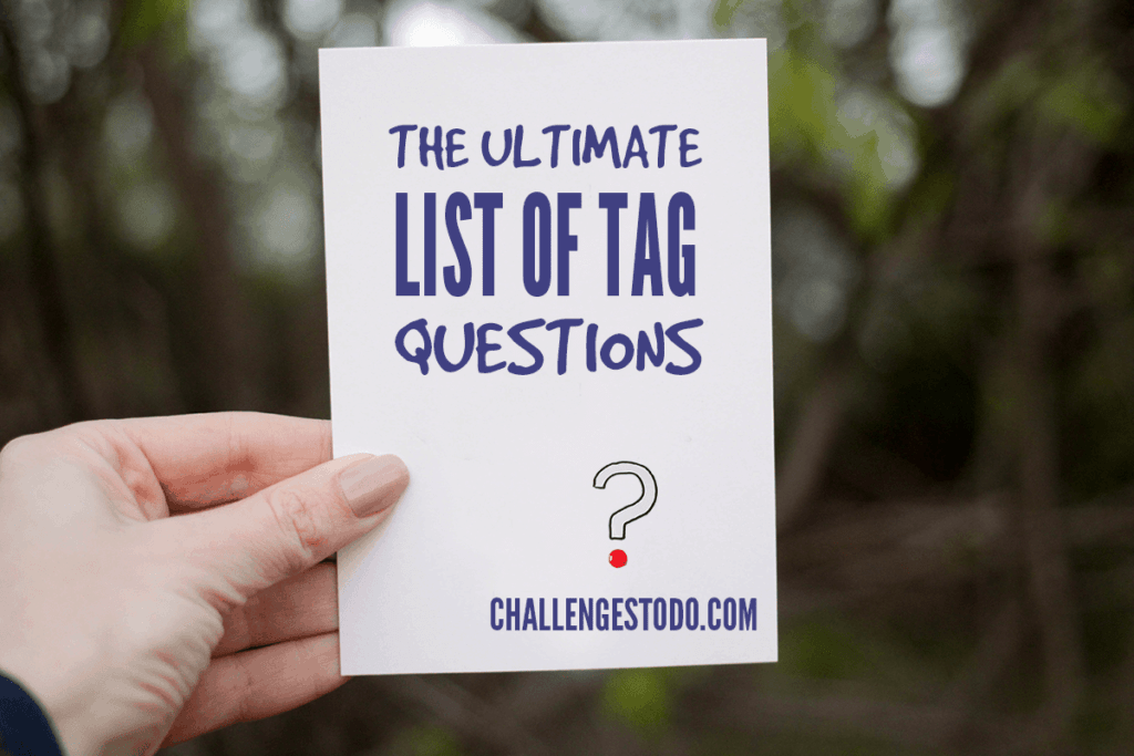 The Ultimate List of Tag Questions