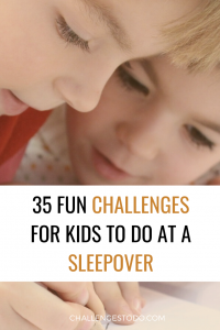 Challenges for sleepovers