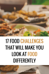 food challenges to do at home