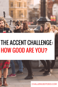 Accent Challenge words